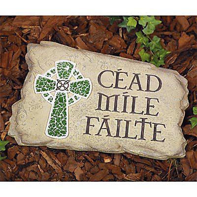"""""""Céad Mile Fáilte"""" Garden Stone"""