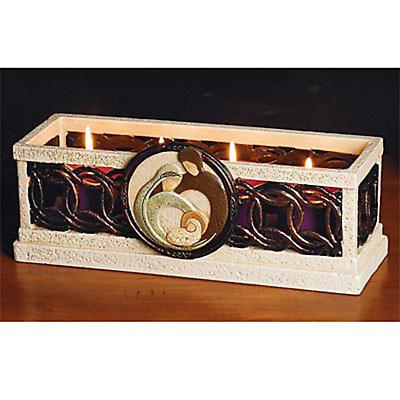Irish Christmas - Irish Holy Family Advent Candleholder