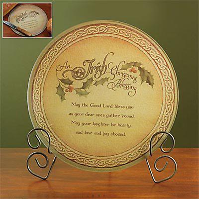 Irish Christmas - Irish Christmas Blessing Cutting Board