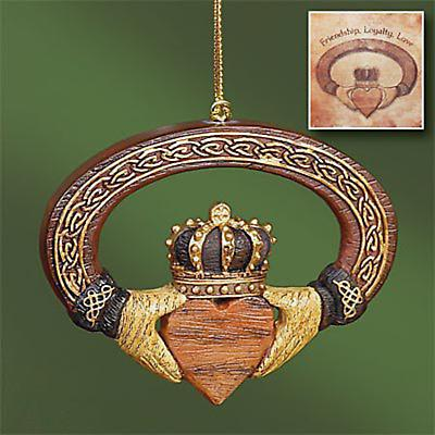Irish Christmas - Claddagh Ornament and Card