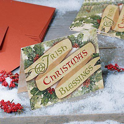 Irish Christmas - Irish Christmas Blessing Card - Set of 10