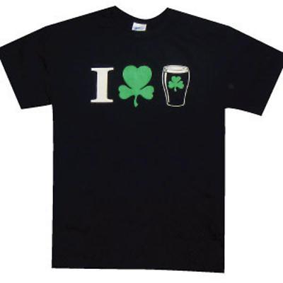 """Irish T-Shirt - """"I (Shamrock) Beer"""""""