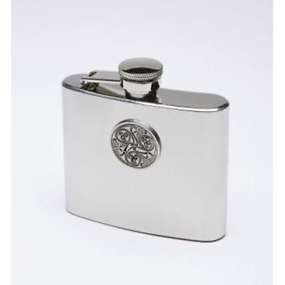 Celtic Triskele Irish Whiskey Flask - Pewter