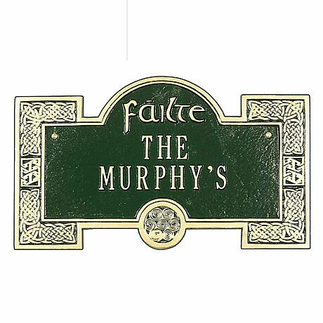 Personalized Failte Welcome Plaque - 2 Lines