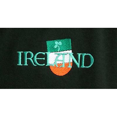 Ireland Flag Shield Embroidered Polo Shirt - Forest Green