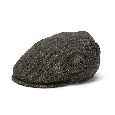 Vintage Irish Donegal Tweed Cap Brown Salt and Pepper