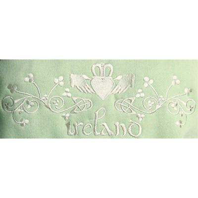 Ladies Claddagh Embroidered Hooded Sweatshirt - Pistachio