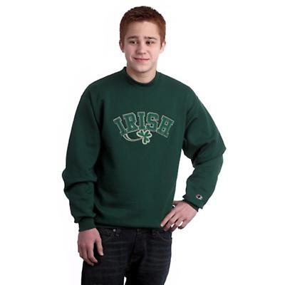 Irish Shamrock Applique Sweatshirt - Forest Green