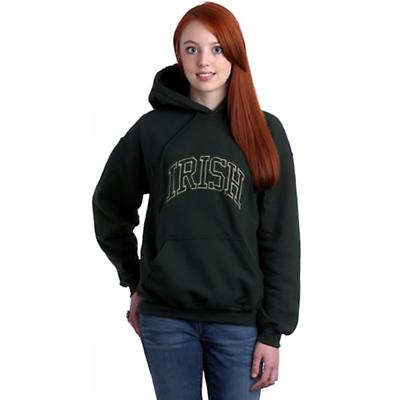 Irish Embroidered Hooded Sweatshirt - Forest Green