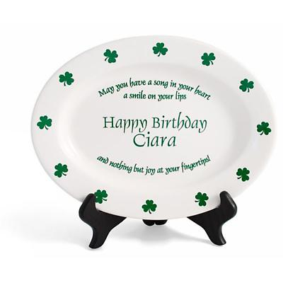 "Personalized 11"" Irish Proverb Birthday Plate"