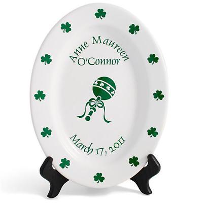 """Personalized 11"""" Irish Birthday Plate"""