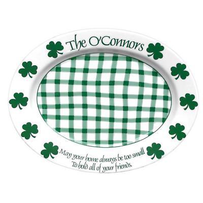 "Personalized 16.5"" Irish Shamrock Celebration Platter"