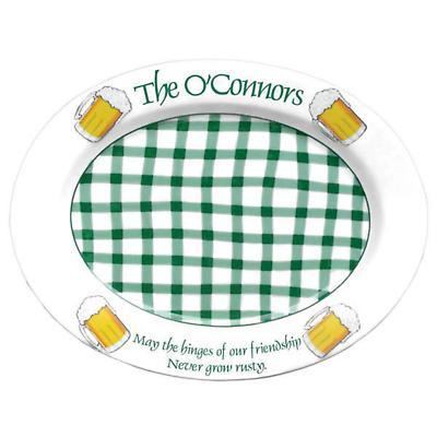 "Personalized 16.5"" Irish Pub Serving Platter"