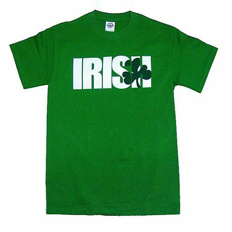 """Irish T-Shirt - """"Irish"""" Shamrock (Green)"""