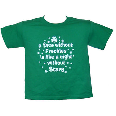 """Irish T-Shirt - """"A face without Freckles"""" (Toddler)"""