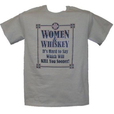 """Irish T-Shirt - """"Women & Whiskey"""""""