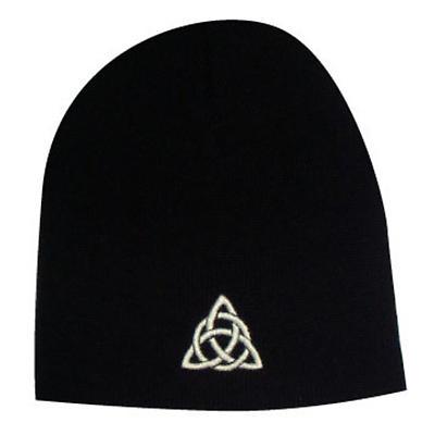 Celtic Trinity Knot Beanie Hat - Black