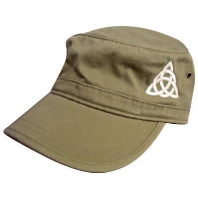 Celtic Trinity Knot Corps Hat - Khaki Green