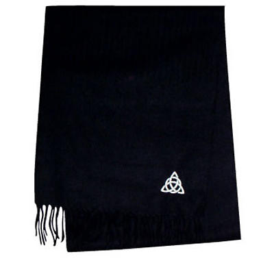 Trinity Knot Embroidered Scarf