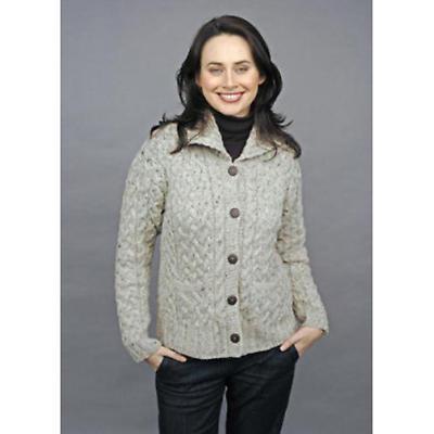 Ladies Irish Cardigan - Irish Wool Cardigan with Pockets by Carraig Donn