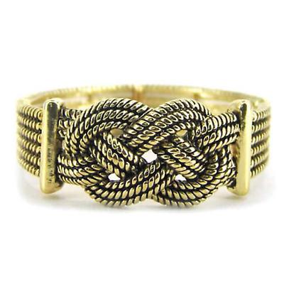 Celtic Bracelet - Goldtone Celtic Knot Stretch Bracelet