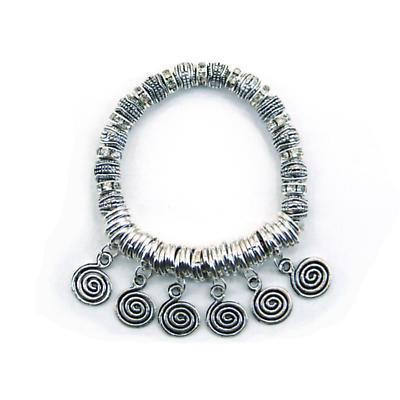 Celtic Bracelet - Celtic Spiral Dangle Stretch Bracelet