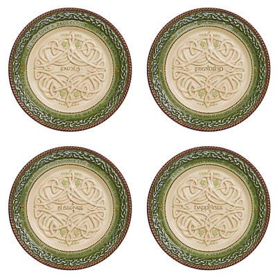 Irish Kitchen Celtic Dessert Plates - Set of 4