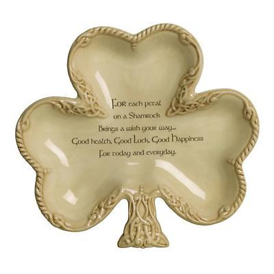 Irish Blessing Celtic Shamrock Dish