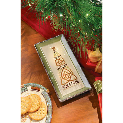 Irish Christmas - Celtic Christmas Blessing Tray