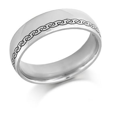 Irish Wedding Ring - Ladies Gold Celtic Swirls Celtic Wedding Band