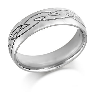 Celtic Wedding Ring - Mens Celtic Design Irish Wedding Ring