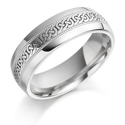 Irish Wedding Ring - Mens Celtic Knot Gold Irish Wedding Band
