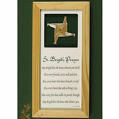 """St. Brigid's Prayer"" Shadow Box Frame"