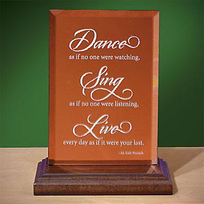 """Dance, Sing, Live"" Mirror Plaque"