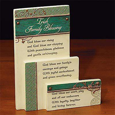 """Irish Family Blessing"" Layered Plaque"