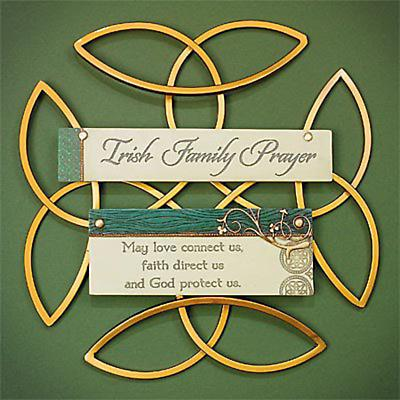 """Irish Family Prayer"" Wall Hanging"