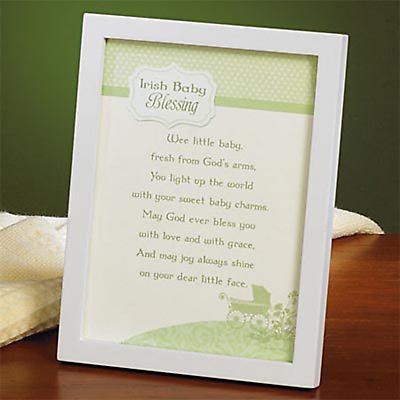 """""""Irish Baby Blessing"""" Framed Print."""