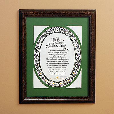 """""""Irish Wedding Blessing"""" Print"""
