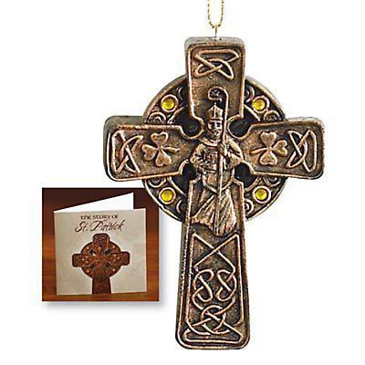 Irish Christmas - St. Patrick Cross Ornament and Card
