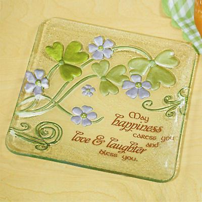 Shamrock Glass Plate