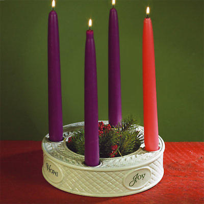 Irish Christmas - Irish Knit Advent Candleholder
