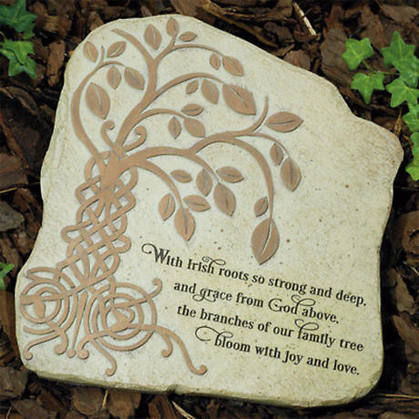 Irish Tree of Life Garden Stone