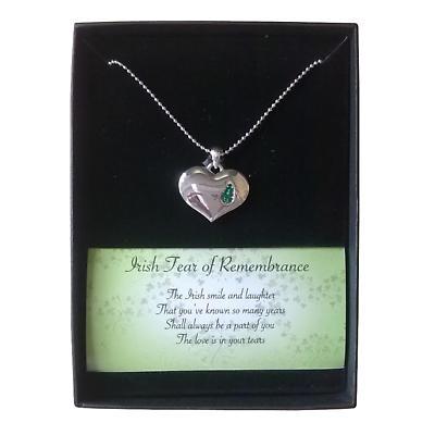 Irish Necklace - Irish Tear of Remembrance Necklace