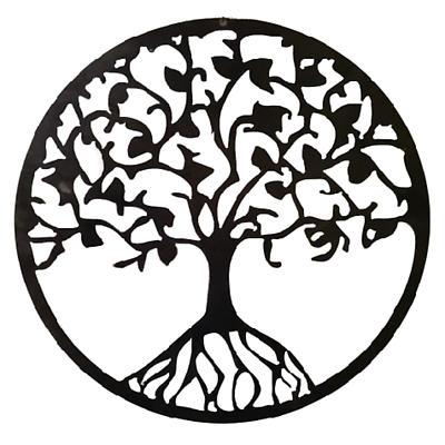 Metal Tree of Life Hanging Garden Décor - 14 inch