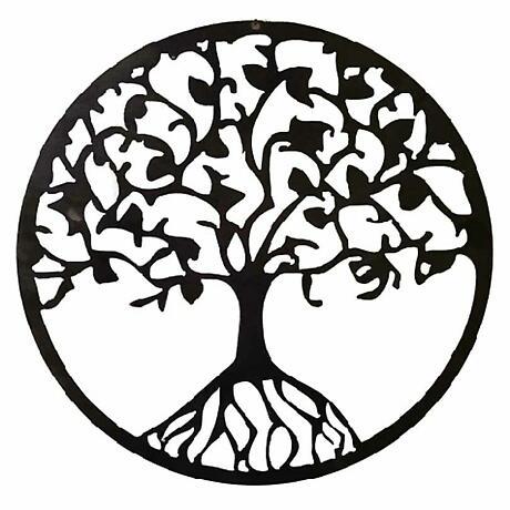 Metal Tree of Life Hanging Garden Décor - 7.25 inch