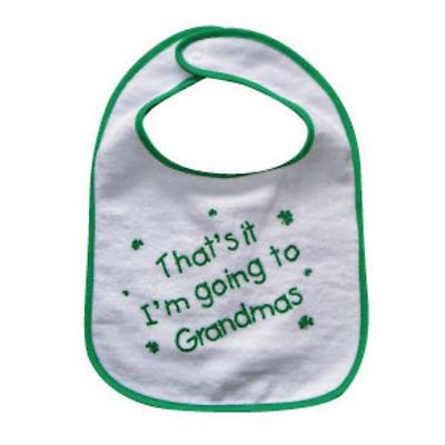 """That's it I'm going to Grandmas"" Bib"