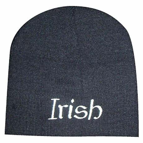 """""""Irish"""" Beanie Hat - Black"""