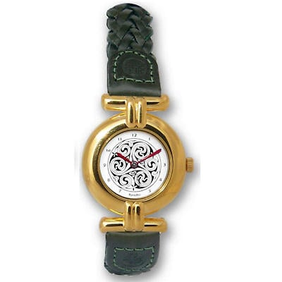 Ladies Celtic Spirals Watch - Gold Plated 'Aife'