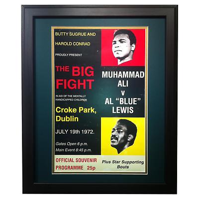 """Muhammad Ali v. Al """"Blue"""" Lewis Fight Croke Park, Dublin - Matted and Framed Print"""