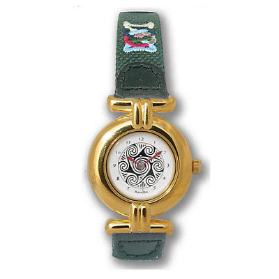 Ladies Celtic Spirals Watch - Gold Plated 'Andraste'